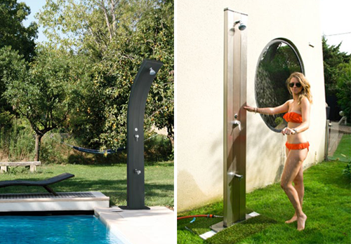 Duchas solares de dise o piscinas code for Duchas para piscina
