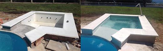 piscina con jacuzzi exterior